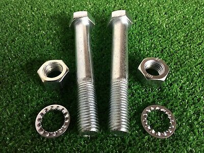 Tow Bar / Tow Ball Bolts M16 x 120mm Long C/w Nuts & Washers 8.8 HIGH TENSILE