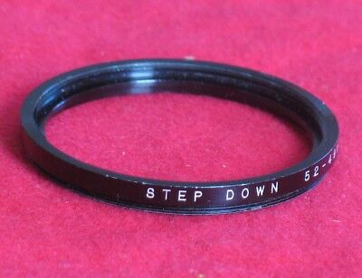 Vintage Camera Lens Step Down 52-49 mm Ring Made in Japan