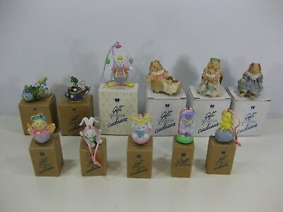 AVON Gift Collection Figures Easter Spring Rabbits Bunnies lot of 11