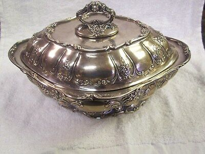 Gorham Chantilly Sterling Silver Covered Vegetable Dish Scrolls & Flowers