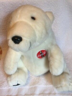 Vintage 1993 Coca Cola Bear Plush Toy Stuffed Animal