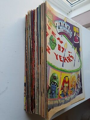 2000AD Progs BULK JOB LOT between 520-599 [56 comics total] Judge Dredd