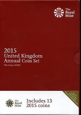 United Kingdom 2015 Annual Uncirculated Coin Set of 13 Coins