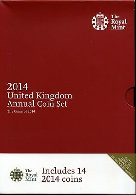United Kingdom 2014 Annual Uncirculated Coin Set of 14 Coins