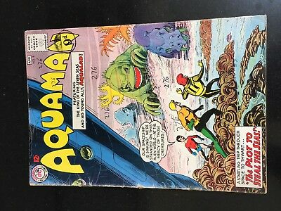 AQUAMAN #8 (DC 1st Series) Aqualad. Syx/Lemur. Nick Cardy c/a F- Key Movie! 1963