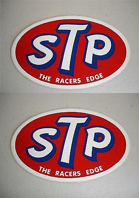 VINTAGE STP RACING STICKER DECAL RICHARD PETTY NASCAR TOOLBOX LOT of TWO NOS