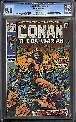 Conan the Barbarian #1 CGC 8.0 WHITE Marvel 1970 1st Conan Kull