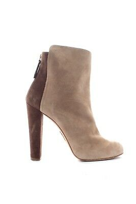 Aquazzura Suede Two Tone Ankle Boots / Beige, Brown / RRP: £645.00