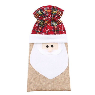 Christmas Red Wine Bottle Cover Bags Snowman/Hat/Santa Claus Decoration S
