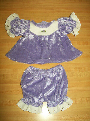 """LAVENDER WINTER OUTFIT SKATING DRESS PANTY MUFF+CAP for 16/"""" Cabbage Patch Kids"""
