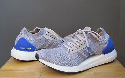 bb54e9455d1 Adidas Women Grey   Hi Res Blue UltraBOOST X Knit Wear Sneakers US 8.5 NWB