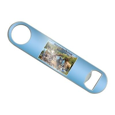 Rocky Mountain National Park Animals Stainless Steel Flat Speed Bottle Opener