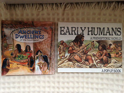 Lot of Two Pop Up Books - Ancient Dwellings of the Southwest and Early Humans