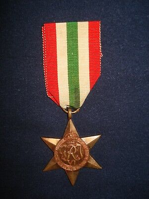 W.W.II Canadian/British Italy Star - Campaign Medal
