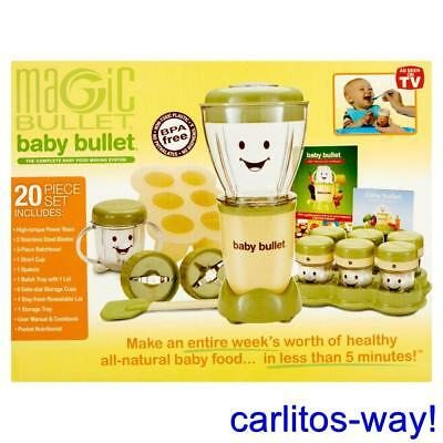 Baby Food Maker Baby Magic Bullet Blender Healthy Foods, BPA-Free, 20-Piece Set