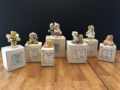 Lot of 7 Cherished Teddies Figurines 90's Assorted With Original Boxes Enesco