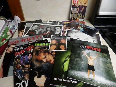 Vtg Lot Metallica Scrapbook Club Posters Pictures TV Guide So What Live Rare
