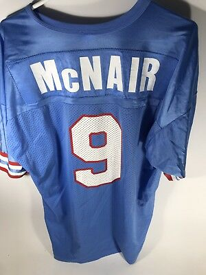 82ff5f21722 ... vintage champion steve mcnair no. 9 jersey houston oilers tennessee  titans sz 48