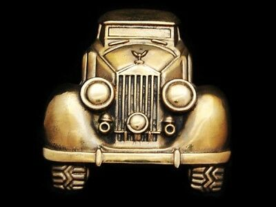 Ll25116 *nos* Vintage 1978 **antique Automobile** Solid Brass Car Belt Buckle