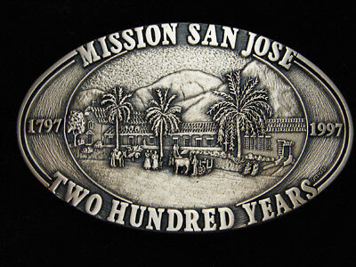 Pk01139 *nos* Vintage 1997 **mission San Jose 200 Years** Solid Brass Buckle