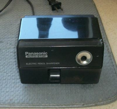 Vtg. Panasonic Auto Stop Black  Electric Pencil Sharpener KP-110 Made in Japan