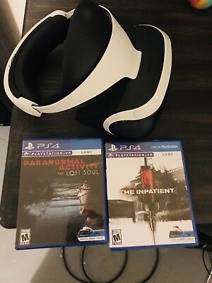 Sony PlayStation VR Headset with Camera Plus 2 Games! Used With No Box