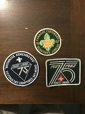 3 Canadian Scout Patches