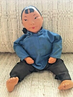 Vintage 50s MICALE by Michael Lee Chinese Character doll Sampan Girl # 5
