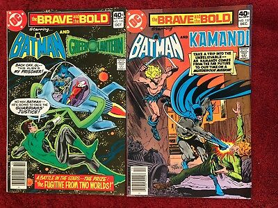 Brave and the Bold 1st 155 157 DC LOT of 2 1979 Haney Aparo Barr Newton