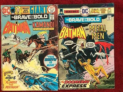 Brave and the Bold 1st 120 121 DC Run of 2 1975 Haney Aparo Bridwell Sprinter