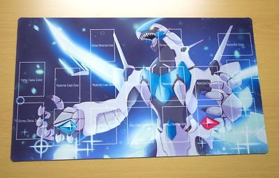 D849+ Free Mat Bag Clear Wing Synchro Dragon Yugioh TCG Playmat With Zones