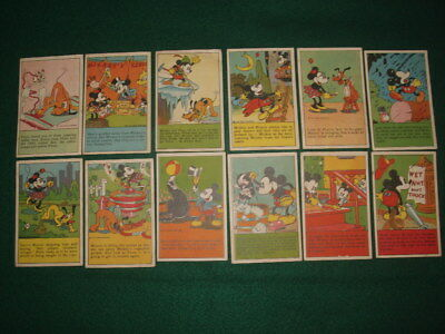 Original Lot 1930's BELL BREAD Premium Adventures of Micky Mouse - Good -