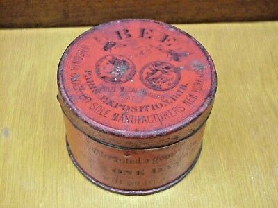 Antique Ansonia BEE Clock Tin Paris Expo 1878 One Day Travel Clock TIN ONLY Red