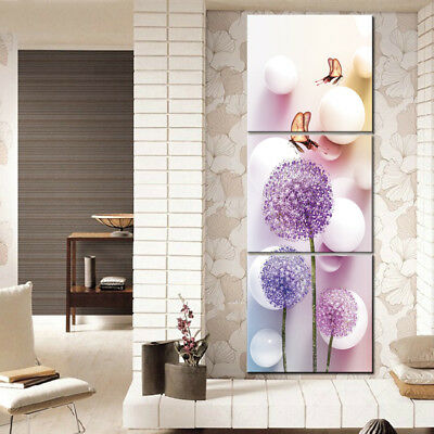 Modular Picture Wall Art Posters Frame Home Decoration 3 Panel Flowers For