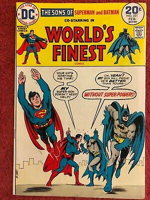 World's Finest 221 DC Lot of 1 1974 Super Sons Haney Dillin Anderson