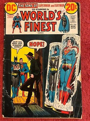 World's Finest 216 DC Lot of 1 1973 Super Sons Haney Cardy Dillin