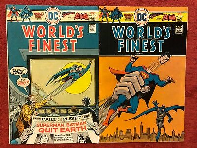 World's Finest 234 235 DC Run of 2 1975 Haney Chan Dillen Blaisdell