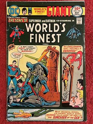 World's Finest 230 DC Lot of 1 1975 Haney Chan Swan O'Neil Kashdan