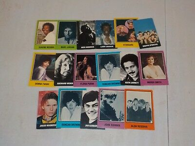 Vintage Music Trading Card Lot of 17 Cards w/ 1979 EMC, 1979 Warner Nice! A69