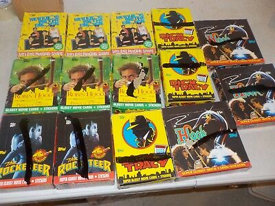 Non Sports Lot of 14 Unopened Wax Boxes w/ Rocketeer, Robin Hood, Hook, Nice! R