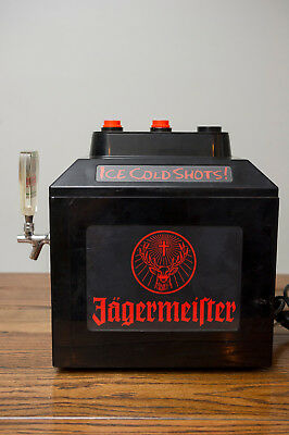 JAGERMEISTER JEMs SHOT MACHINE WITH TAP HANDLE. 2 BOTTLE INSERTS