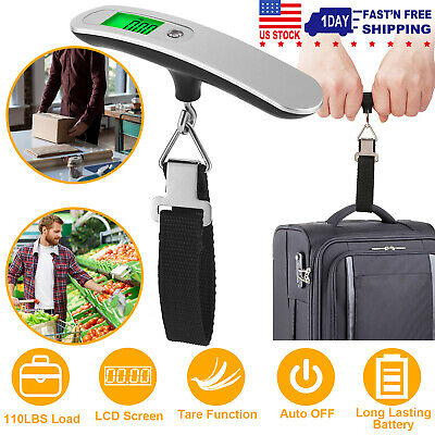Portable Digital Luggage Scale Travel 50kg/10g LCD Hanging Luggage Scale Travel