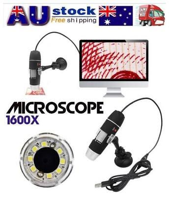 1600X 2-in-1 USB Portable Microscope Digital Electronic Detection Magnifier AU