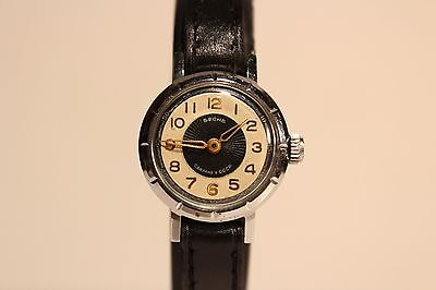 """VINTAGE RARE EARLY PChZ SMALL USSR RUSSIA HAND WIND UP LADIES WATCH """"VESNA""""16 J."""