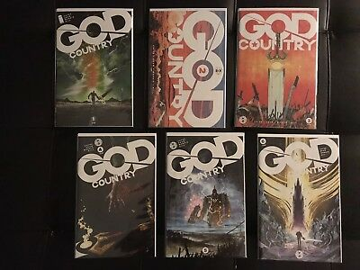 God Country 1 2 3 4 5 6 -All Cover A 1st Prints- NM 9.4+ ~Cates Geoff MOVIE SOON