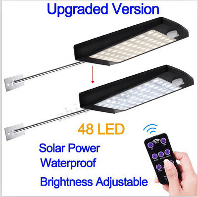 48LED Solar Powered Light PIR Motion Sensor Street Garden Lamp Outdoor Wall Lamp