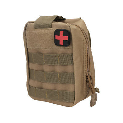 Tactical MOLLE Rip-Away Medical First Aid IFAK Pouch Case Outdoor Survival Tan