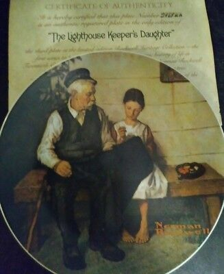 "Norman Rockwell's ""The Lighthouse Keeper's Daughter"" 1979 Numbered Knowles Plate"