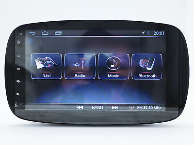 """9"""" Android GPS Navigation Multimedia Radio Stereo WIFI For Smart Car Fortwo 453"""