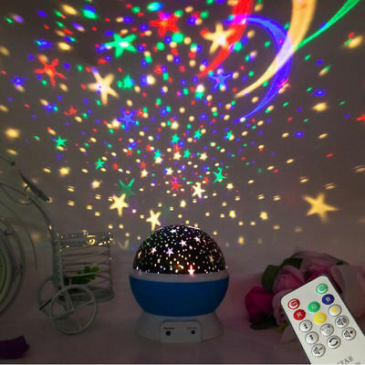 Music LED Rotating Projector Starry Night Light Star Lamp Kids Children gifts